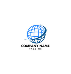 abstract globe logo vector image