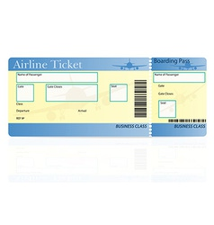 airline ticket 03 vector image