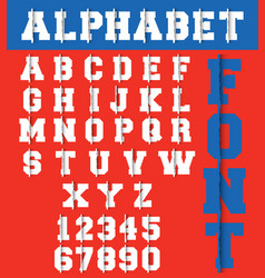 Alphabet font template vector