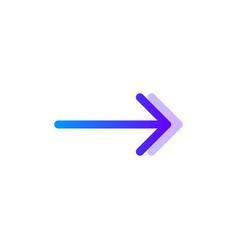 arrow right blue purple gradient icon pointer vector image