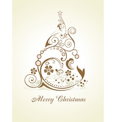 Artistic christmas tree vector image