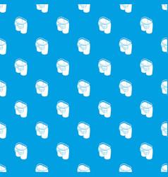 back pocket jeans pattern seamless blue vector image