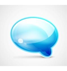 Blue glossy chat box vector image