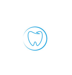 Blue teeth care in a circle for dentist vector