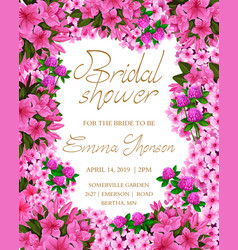 brida shower invitation card vector image
