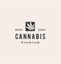 Cannabis hipster vintage logo icon vector