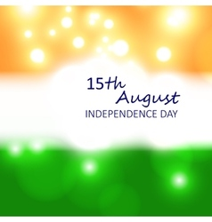 Card for India independence day vector image