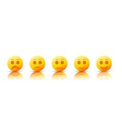 cartoon five emoticons collection vector image