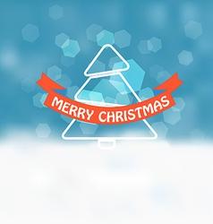 Christmas greeting card Snowfall on Winter vector