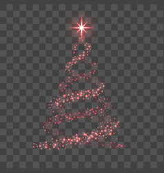 christmas tree happy new year background vector image