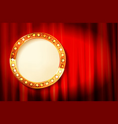 cinema golden round frame vector image