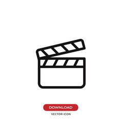 clapperboard icon vector image