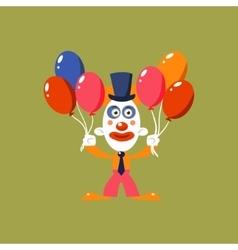 Clown Holding Balloons vector image