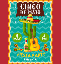 Conco de mayo fiesta party vector
