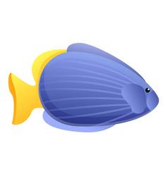 Coral exotic fish icon cartoon style vector