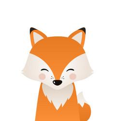 cute fox woodland forest animal vector image
