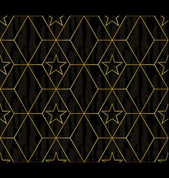 dark wood and gold abstract geometric design vector image