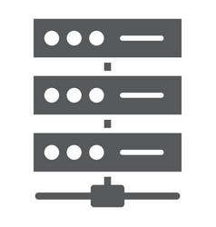 Data network glyph icon data and analytics vector