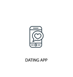 dating app concept line icon simple element vector image