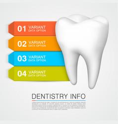 Dentistry info medical art creative vector