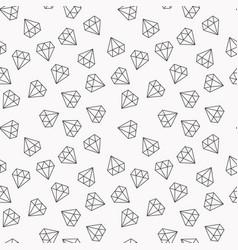 Diamonds random seamless pattern vector