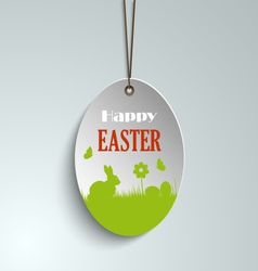 Easter pendulous label with bunny vector