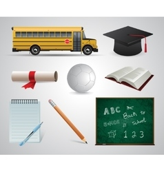 Education School University flat icon vector image