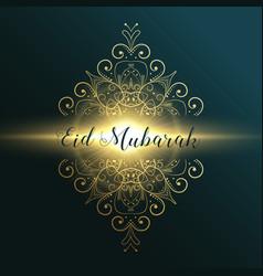 Eid mubarak muslim festival greeting card design vector