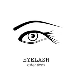 eye eyelash extensions vector image