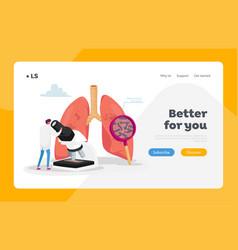Fibrosis tuberculosis pneumonia diagnosis landing vector