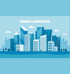 flat design concept banner - urban landscape vector image