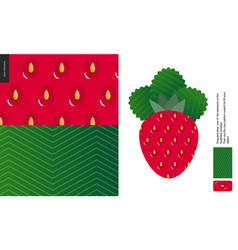 food patterns fruit strawberry vector image