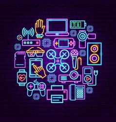 gadget neon concept vector image
