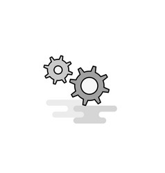 gear web icon flat line filled gray icon vector image