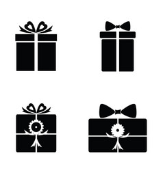 gift icons vector image