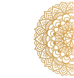 Golden mandala isolated on white background vector