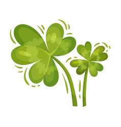 Green clover leaf or trefoil as feast saint vector