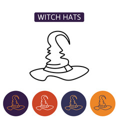 Halloween hat icon vector
