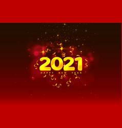 happy new 2021 year holiday cover festive vector image