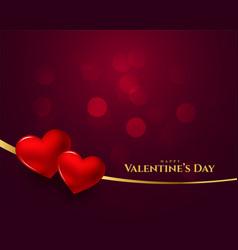 Happy valentines day 3d heart background design vector