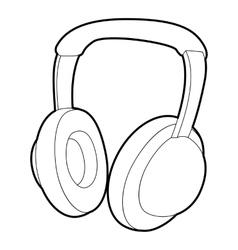 Headphones icon isometric 3d style vector