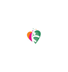 human health successful logo icon vector image