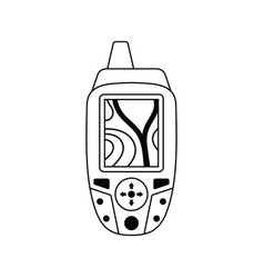 Icon of portable gps device vector