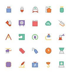 Industrial colored icons 7 vector