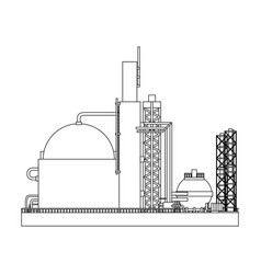Industry factory building vector