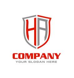 Letter ha logo design vector