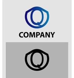 Letter Q logo Alphabet logotype design vector
