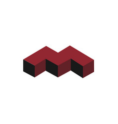 m logo monogram vector image