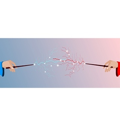 Magic stick in hand vector image