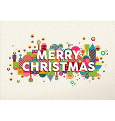 Merry christmas colorful fun geometry environment vector image